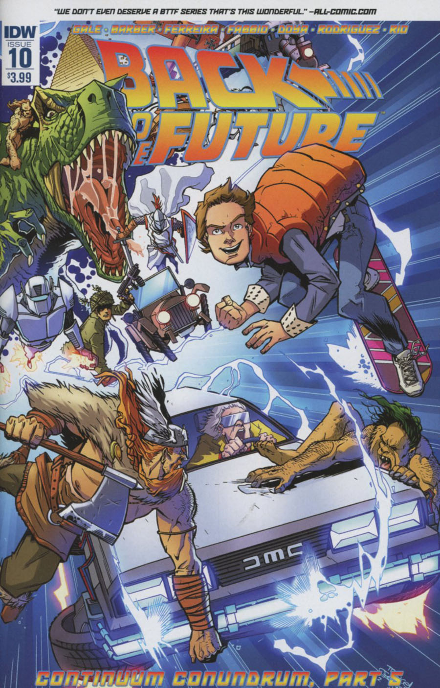 Back To The Future Vol 2 #10 Cover A Regular Marcelo Ferreira Cover