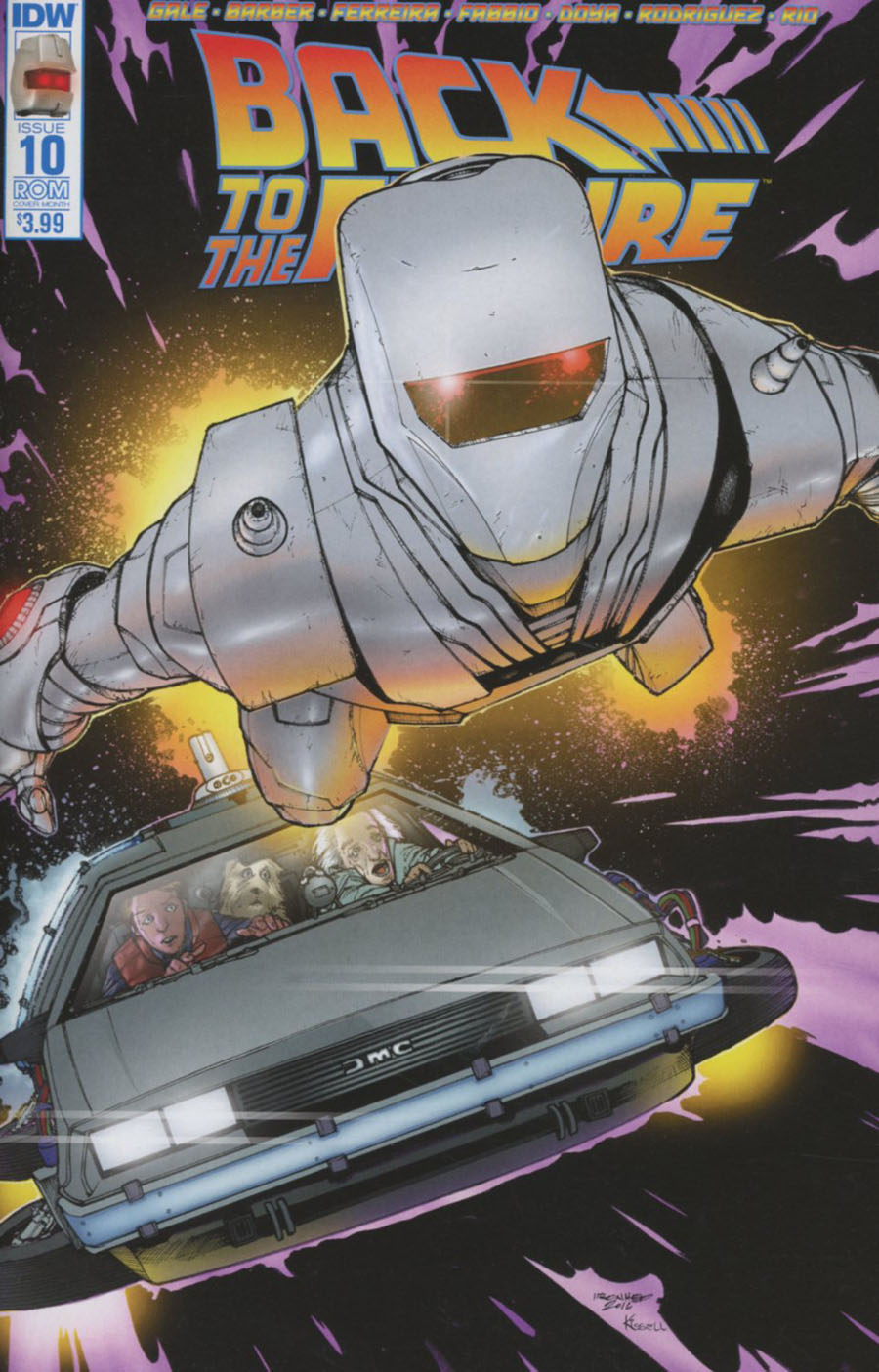 Back To The Future Vol 2 #10 Cover C Variant Alex Sanchez ROM Subscription Cover