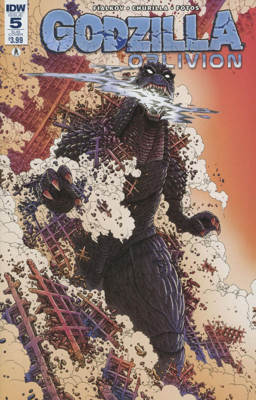 Godzilla Oblivion #5 Cover B Variant James Stokoe Subscription Cover