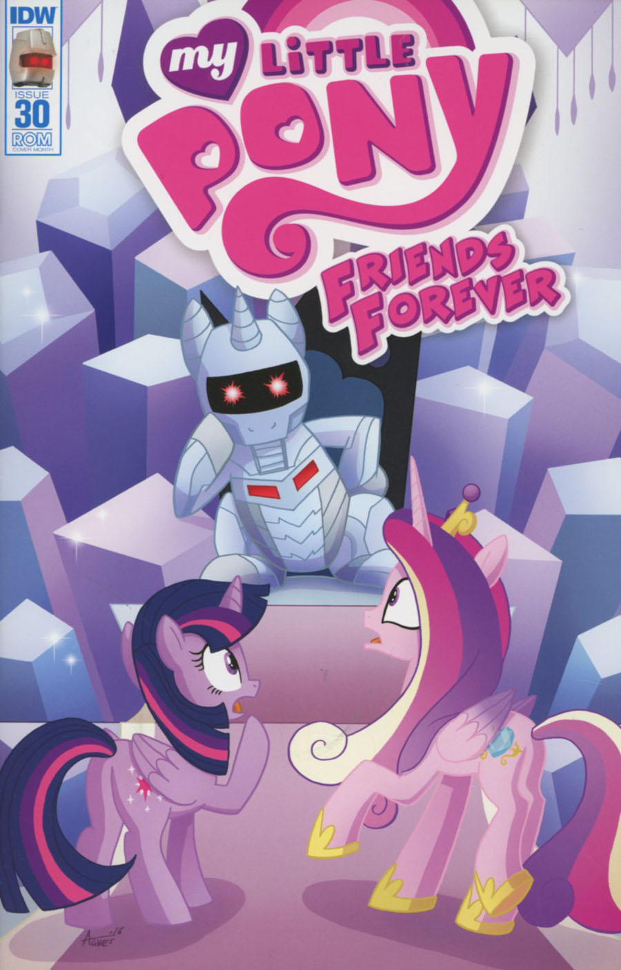 My Little Pony Friends Forever #30 Cover B Variant Agnes Garbowska ROM Subscription Cover
