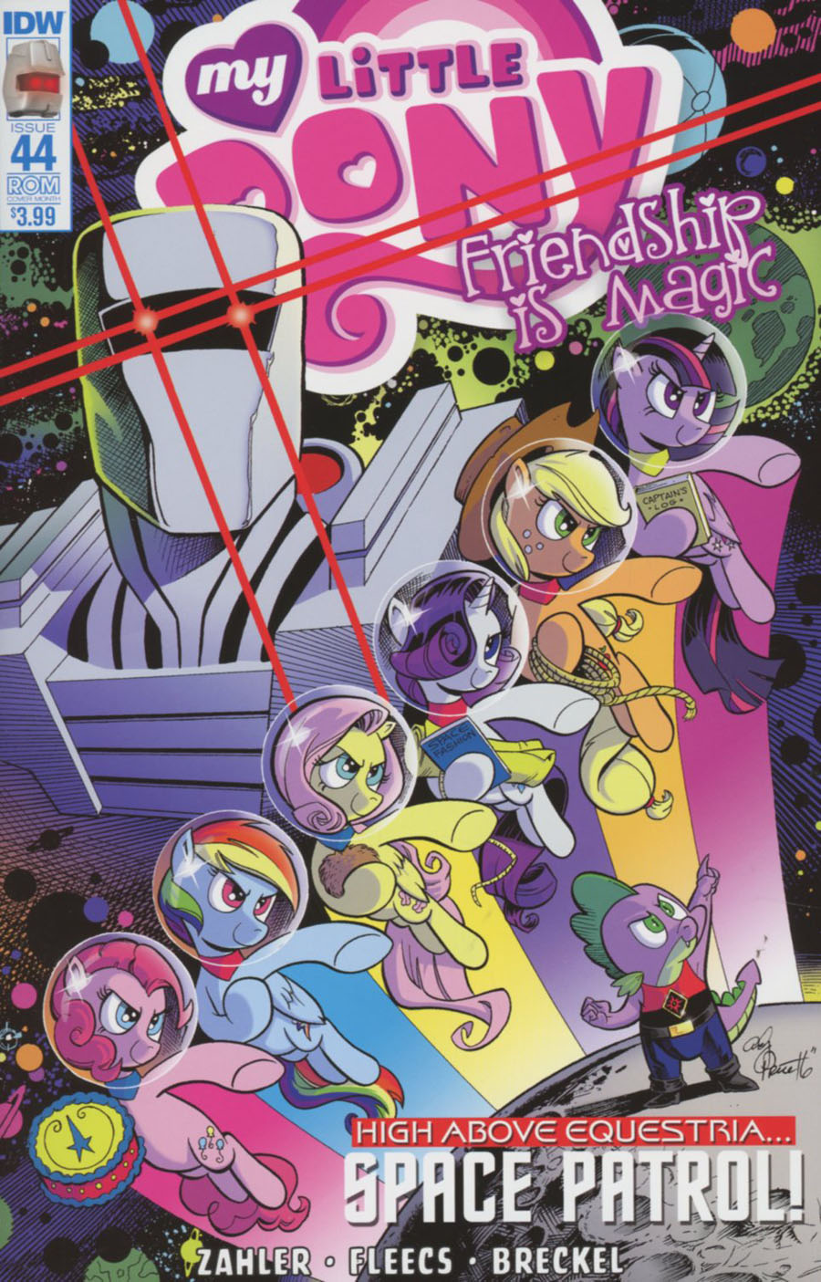 My Little Pony Friendship Is Magic #44 Cover B Variant Andy Price ROM Subscription Cover