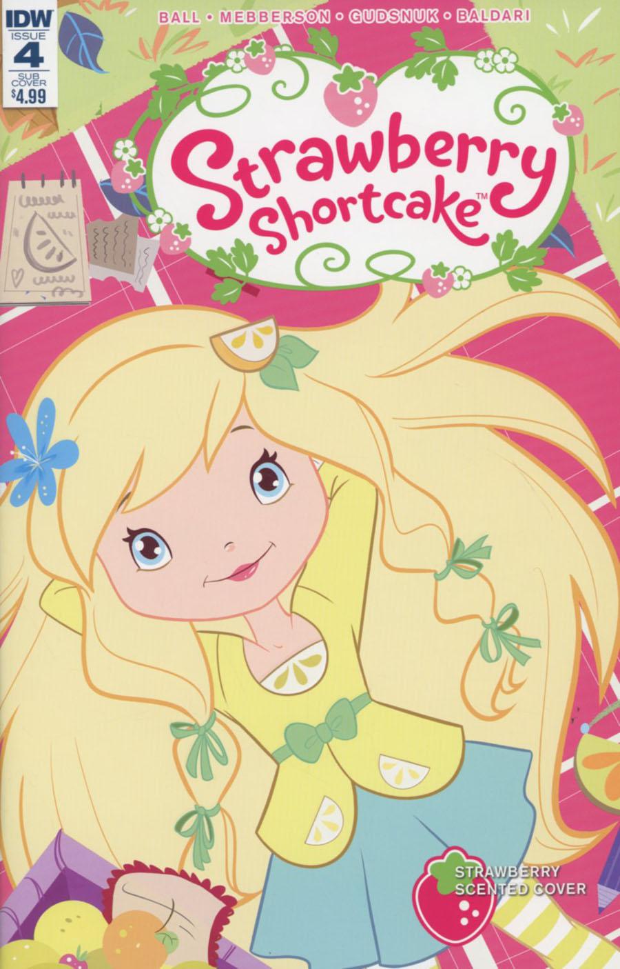 Strawberry Shortcake Vol 3 #4 Cover C Variant Nicoletta Baldari Scented Cover
