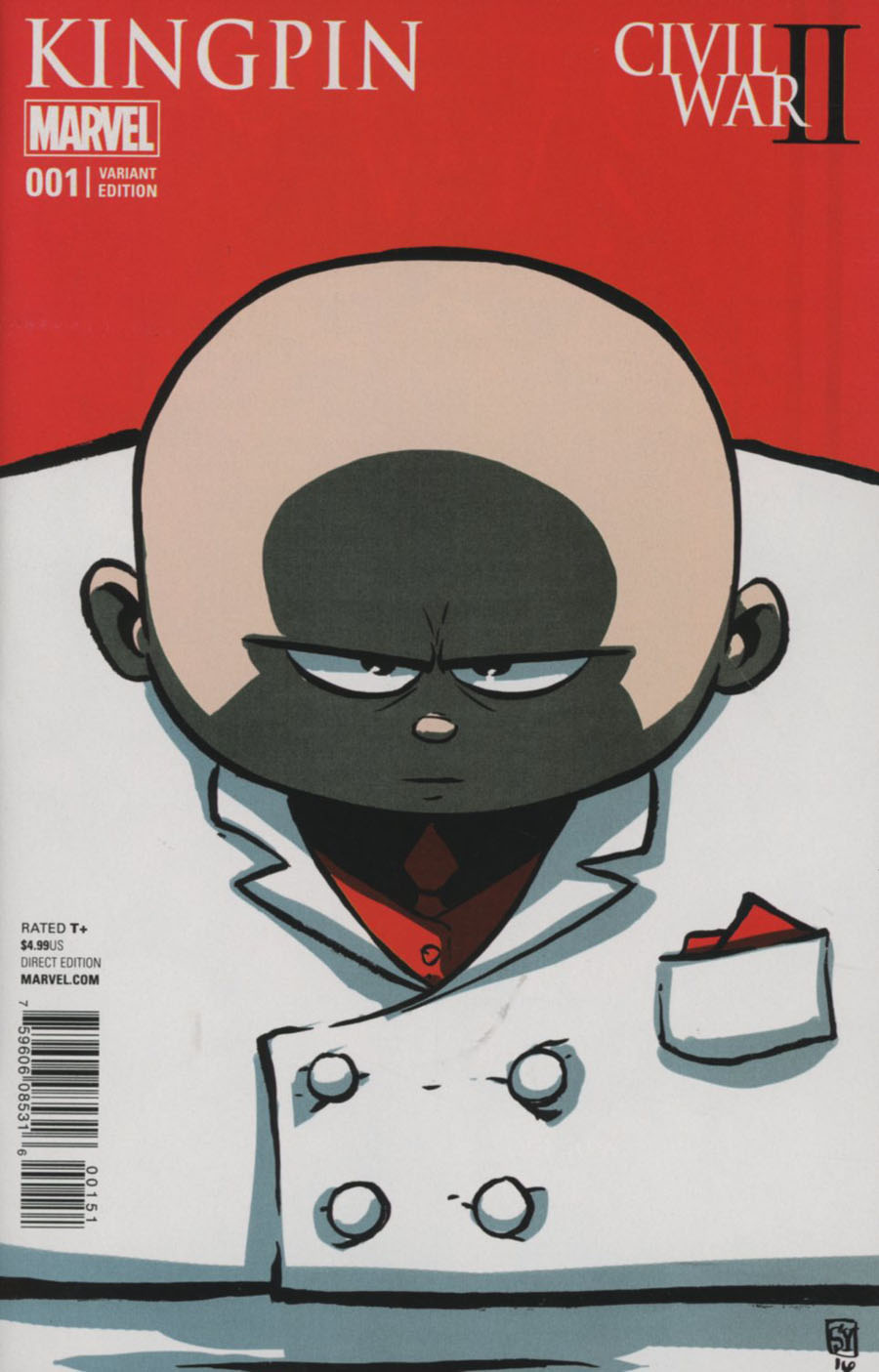 Civil War II Kingpin #1 Cover C Variant Skottie Young Baby Cover