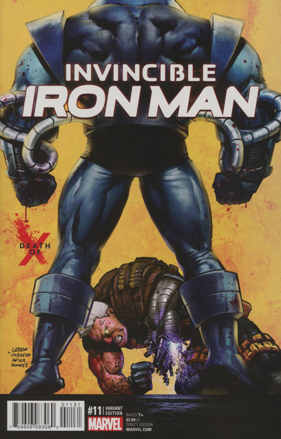 Invincible Iron Man Vol 2 #11 Cover B Variant Death Of X Cover (Road To Civil War II Tie-In)