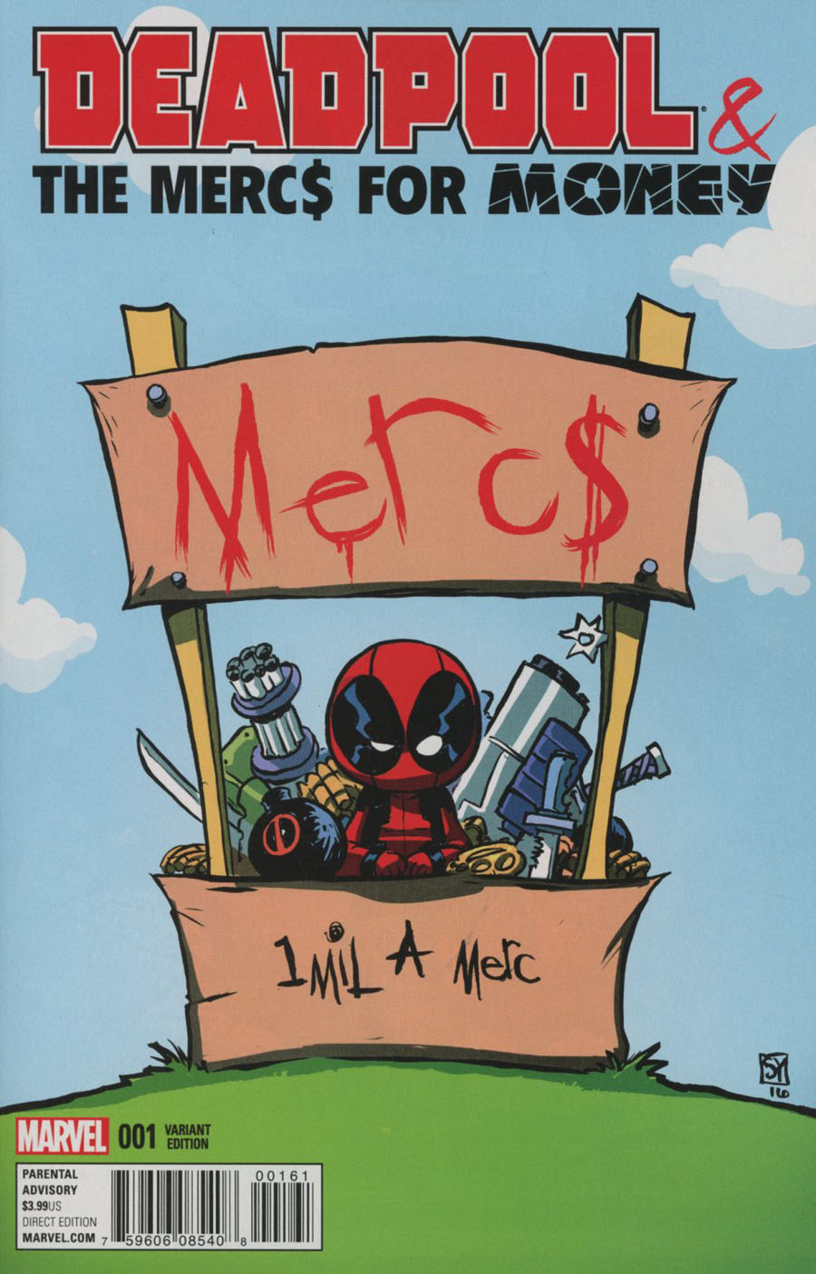 Deadpool And The Mercs For Money Vol 2 #1 Cover E Variant Skottie Young Baby Cover
