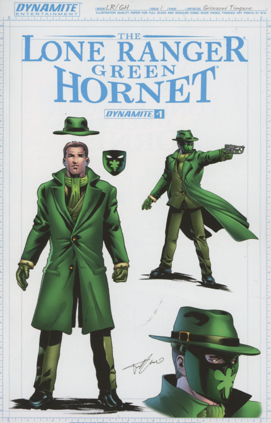 Lone Ranger Green Hornet #1 Cover B Incentive Giovanni Timpano Green Hornet Design Variant Cover