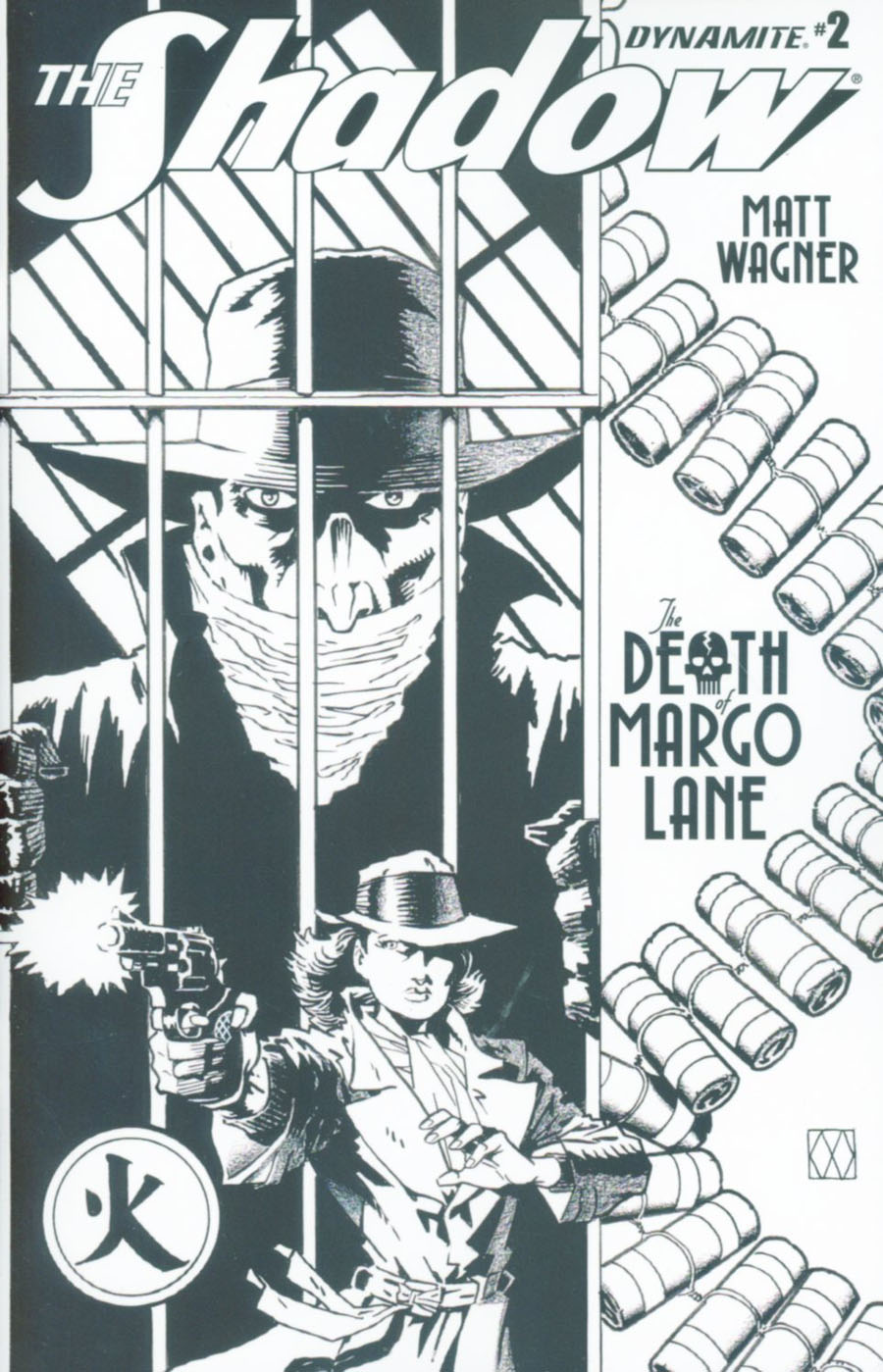 Shadow Death Of Margo Lane #2 Cover B Incentive Matt Wagner Black & White Cover