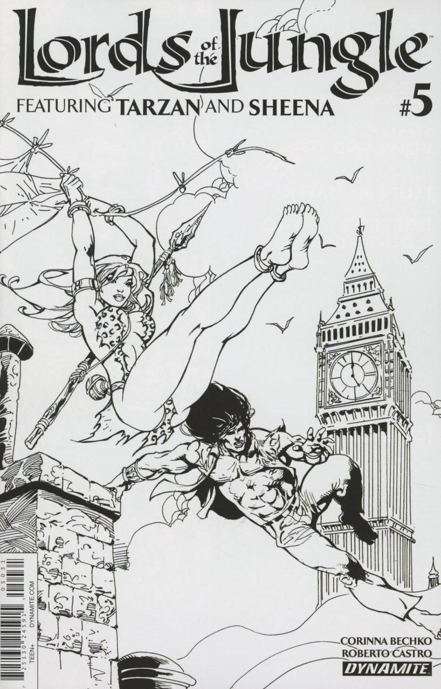 Lords Of The Jungle #5 Cover C Incentive Roberto Castro Black & White Cover