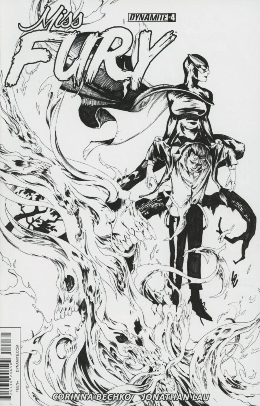 Miss Fury Vol 3 #4 Cover C Incentive Jonathan Lau Black & White Cover