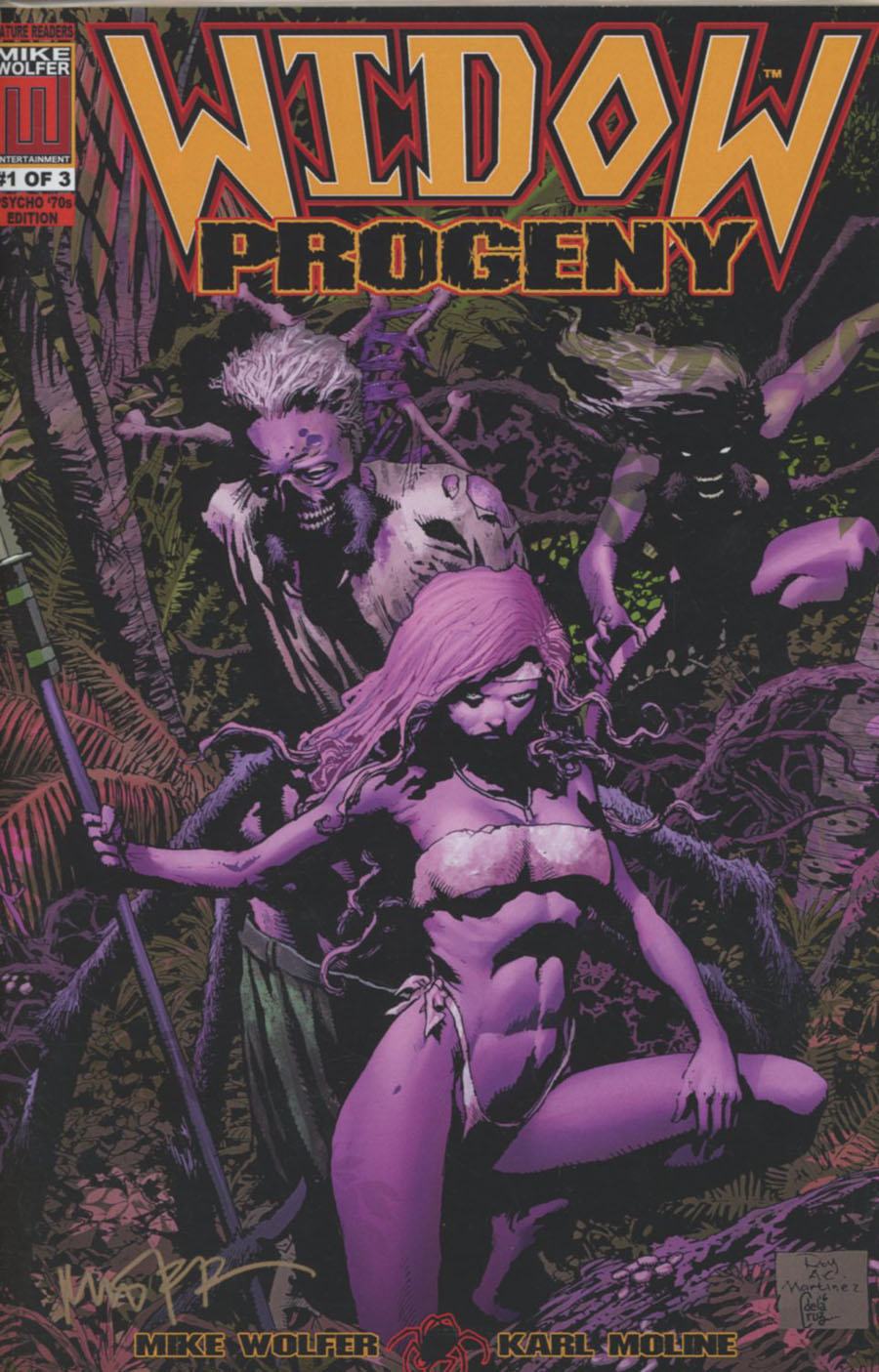 Widow Progeny #1 Cover B Variant Psycho 70s Package