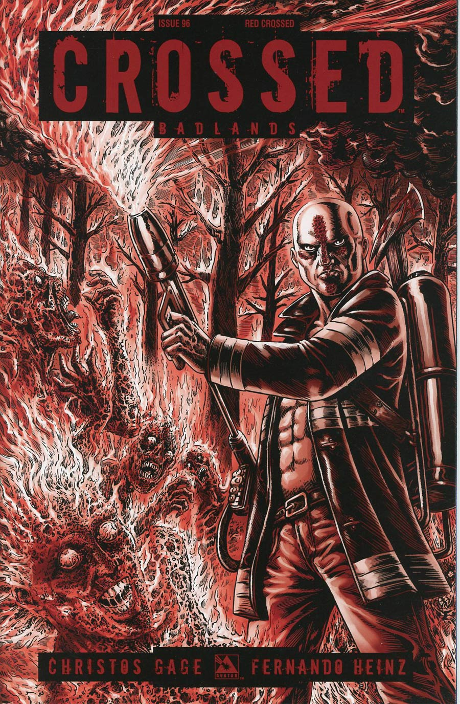 Crossed Badlands #96 Cover F Incentive Red Crossed Edition