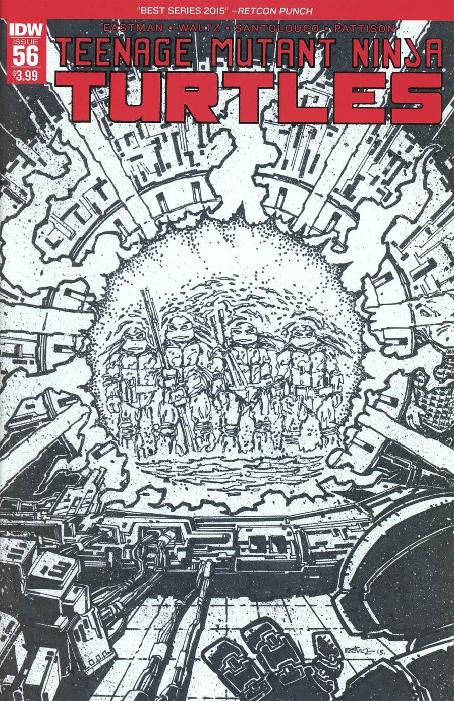 Teenage Mutant Ninja Turtles Vol 5 #56 Cover D 2nd Ptg Kevin Eastman Variant Cover