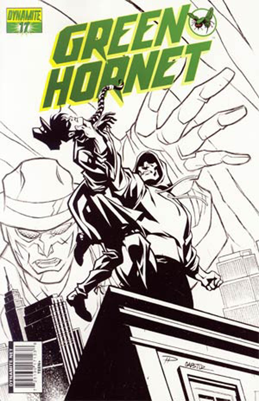 Kevin Smiths Green Hornet #17 Cover D Phil Hester Black and White Variant