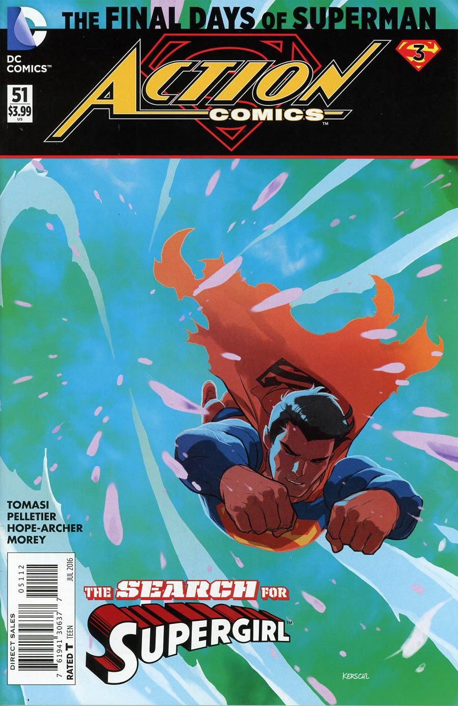 Action Comics Vol 2 #51 Cover C 2nd Ptg Karl Kerschl Variant Cover (Super League Part 3)