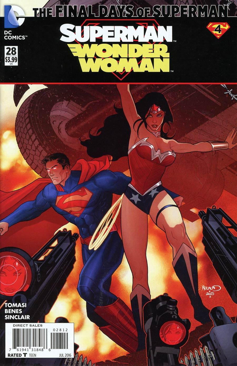 Superman Wonder Woman #28 Cover C 2nd Ptg Paul Renaud Variant Cover (Super League Part 4)