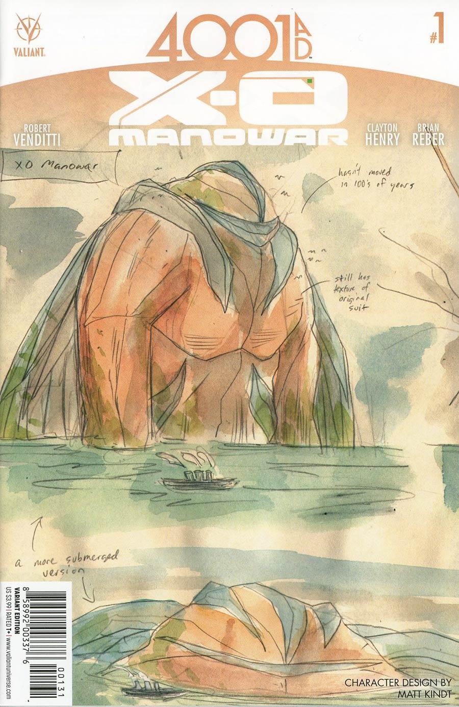 4001 AD X-O Manowar #1 Cover C Incentive Matt Kindt Character Design Variant Cover