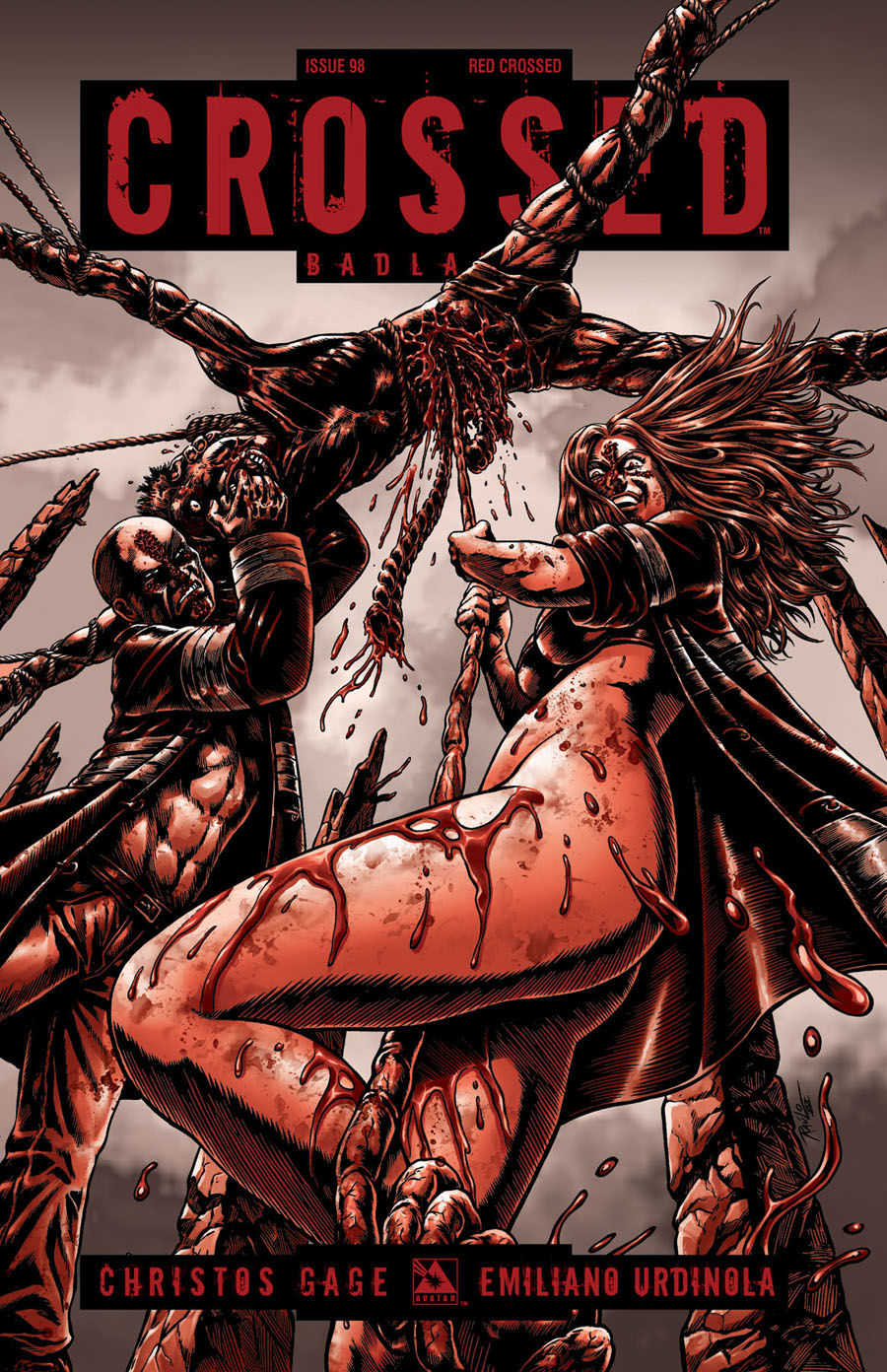 Crossed Badlands #98 Cover F Incentive Red Crossed Edition