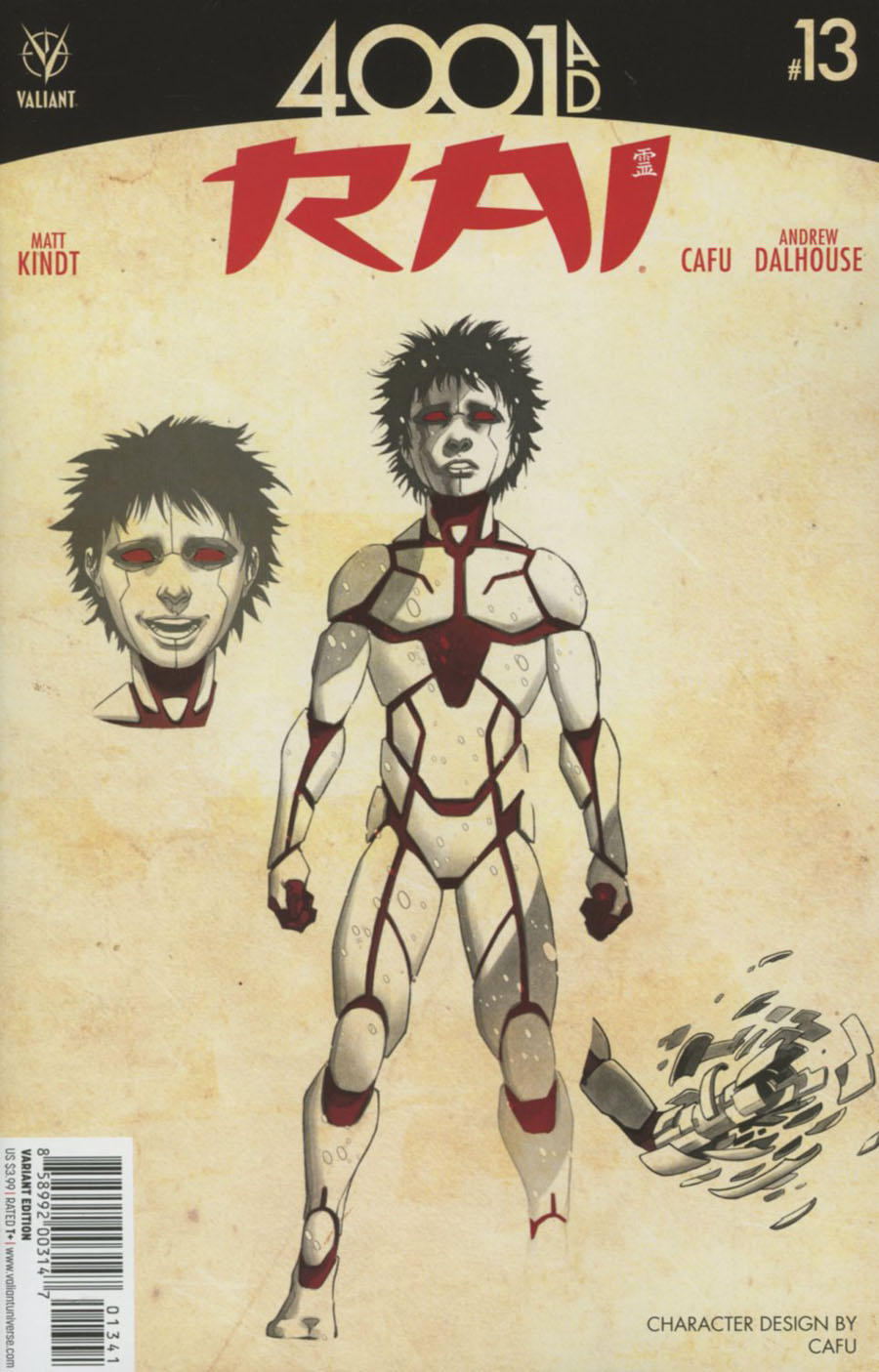 Rai Vol 2 #13 Cover D Incentive CAFU Character Design Variant Cover (4001 AD Tie-In)