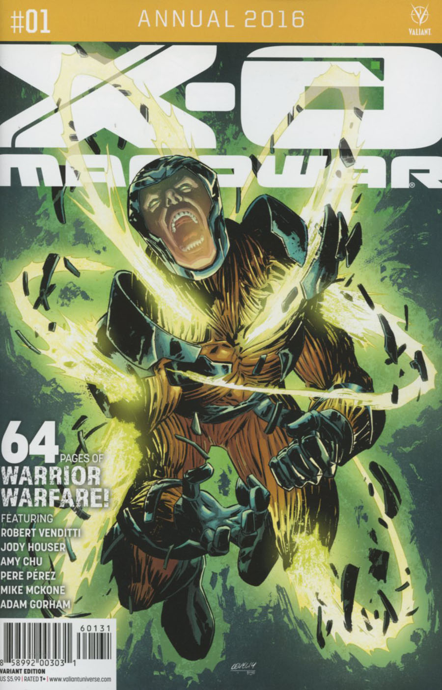 X-O Manowar Vol 3 Annual 2016 #1 Cover C Incentive Brian Level Variant Cover