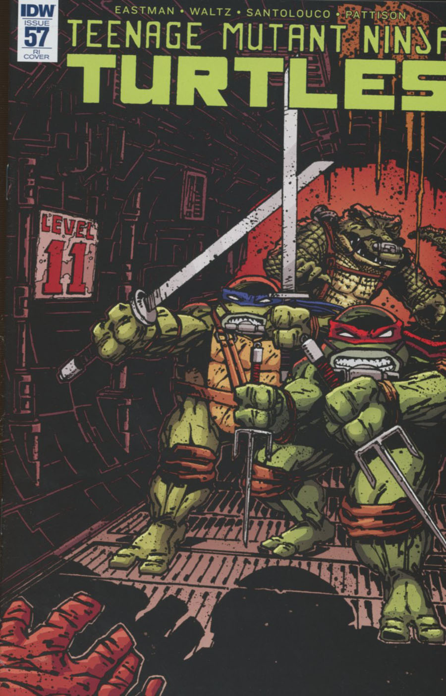 Teenage Mutant Ninja Turtles Vol 5 #57 Cover C Incentive Kevin Eastman Variant Cover
