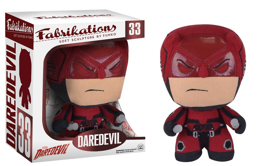 Fabrikations 33 Marvel Daredevil 6-Inch Sculpted Plushie