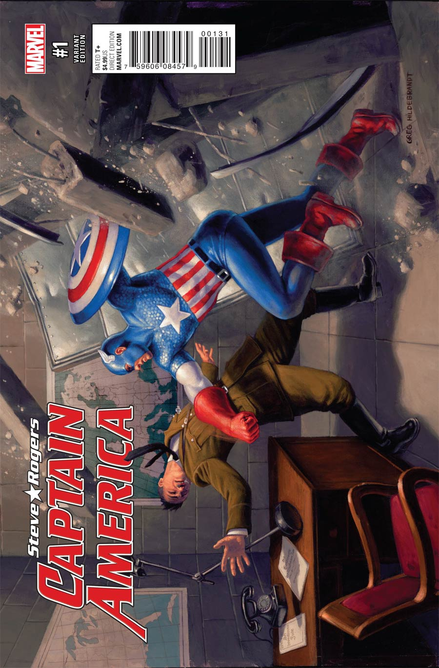 Captain America Steve Rogers #1 Cover G Incentive Captain America 75th Anniversary Variant Cover