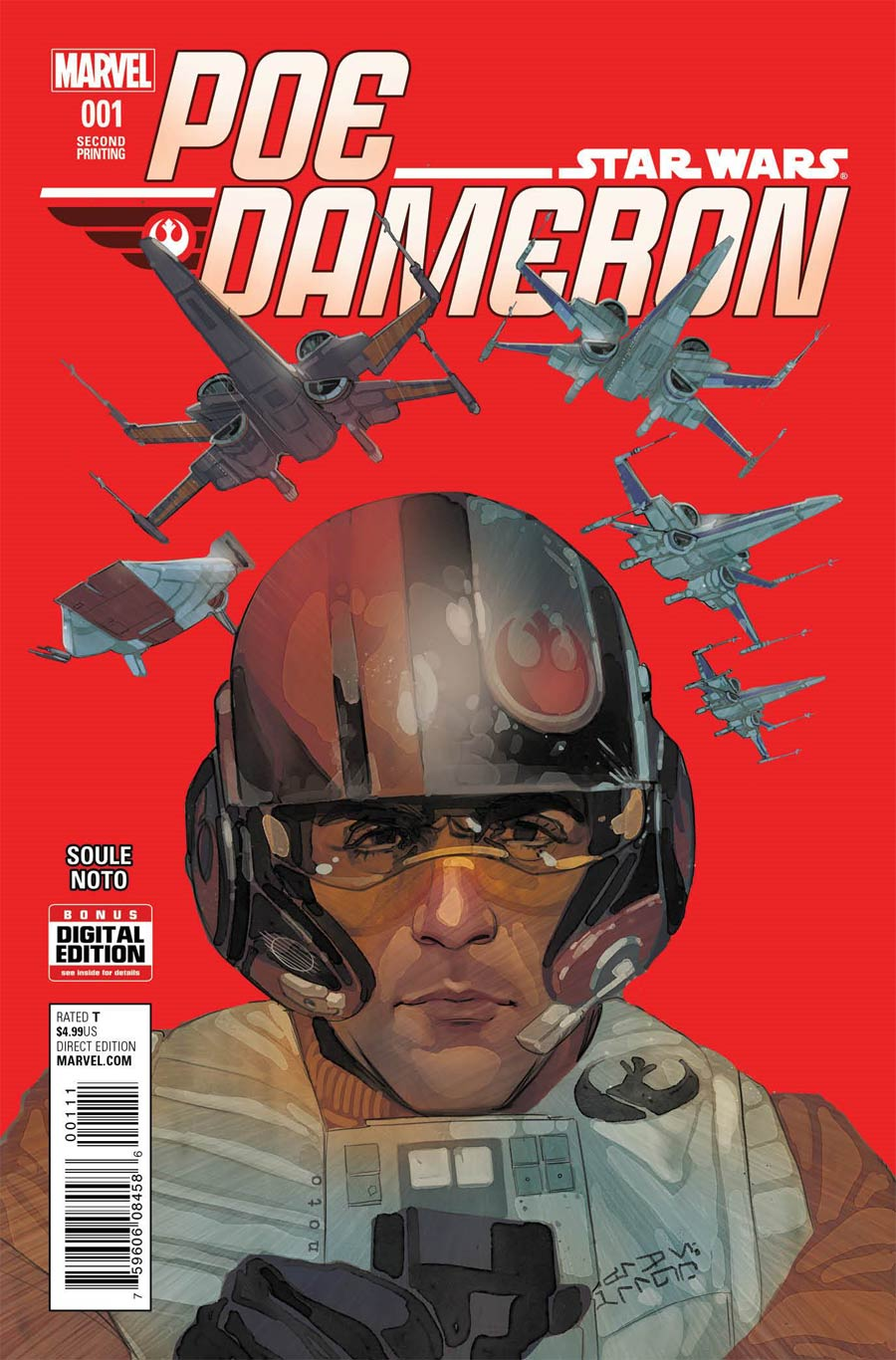 Star Wars Poe Dameron #1 Cover O 2nd Ptg Phil Noto Variant Cover