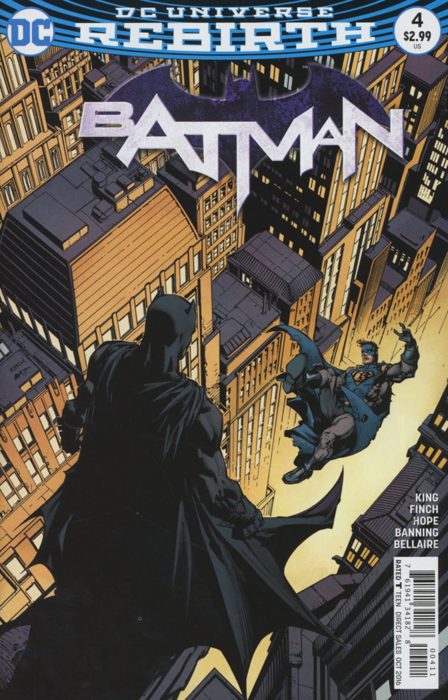 Batman Vol 3 #4 Cover A Regular David Finch Cover