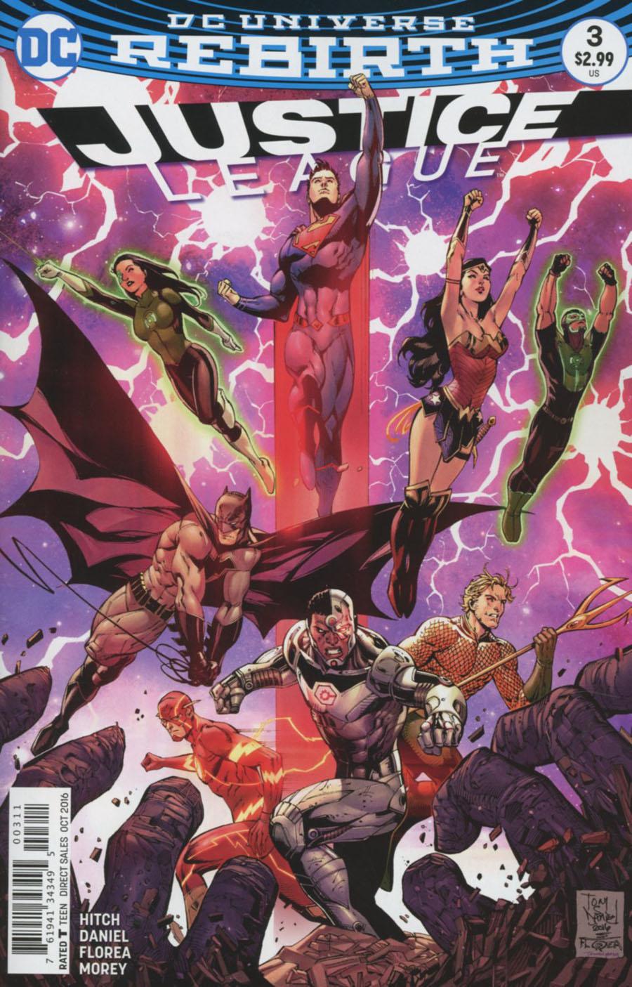 Justice League Vol 3 #3 Cover A Regular Tony S Daniel Cover