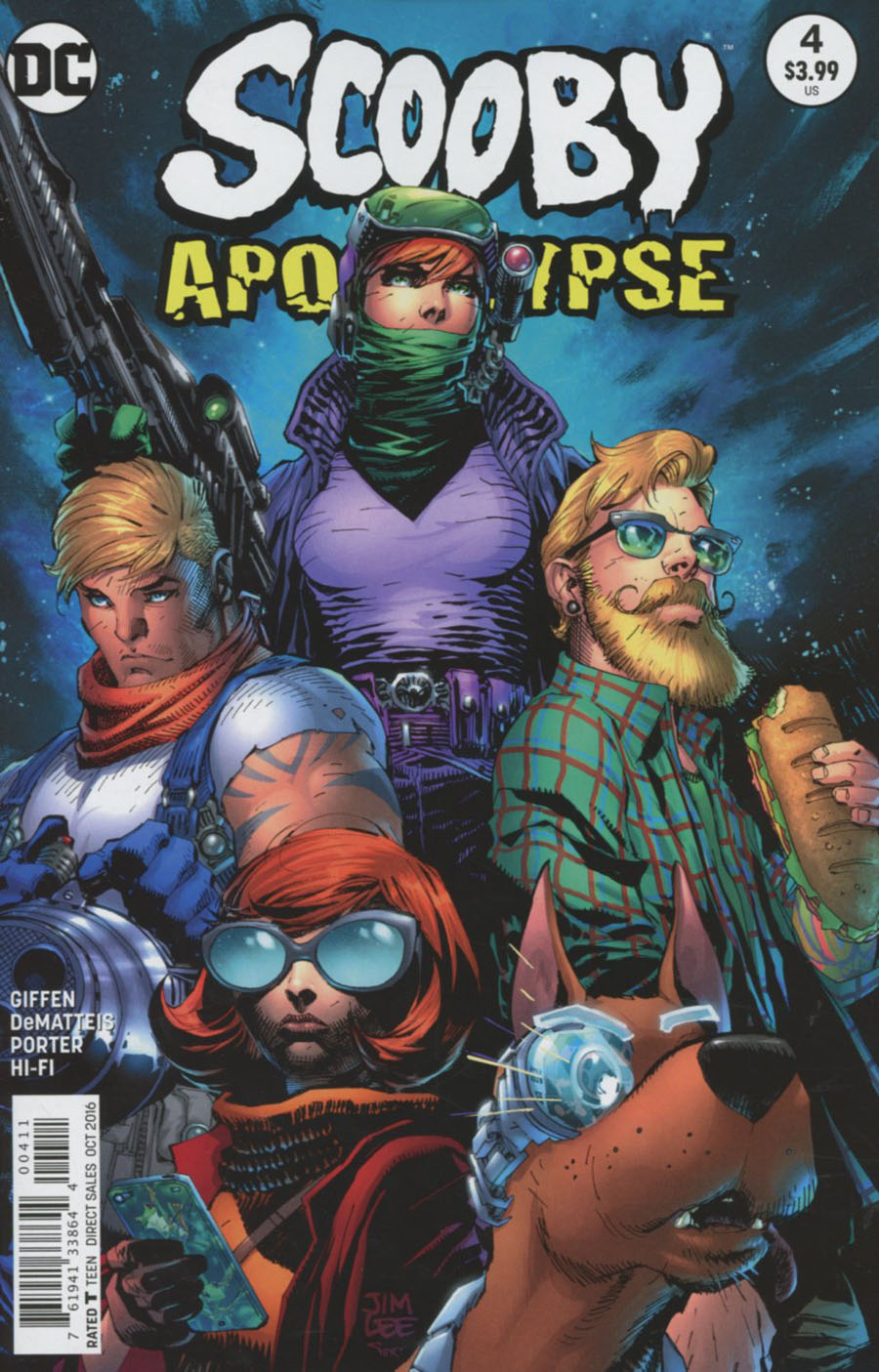 Scooby Apocalypse #4 Cover A Regular Jim Lee Cover
