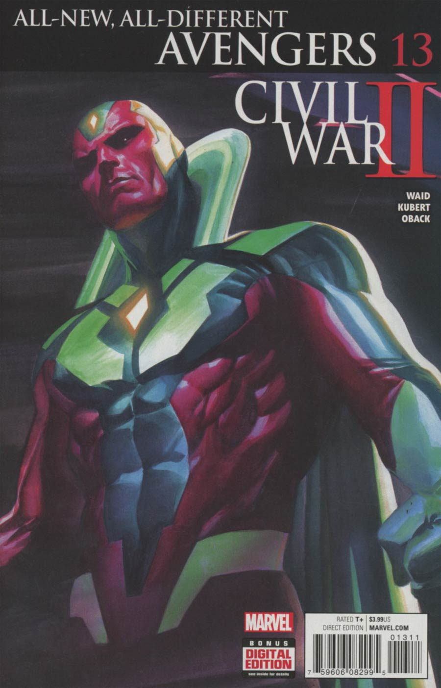 All-New All-Different Avengers #13 Cover A Regular Alex Ross Linking 1 Cover (Civil War II Tie-In)