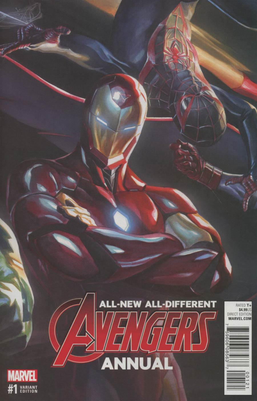 All-New All-Different Avengers Annual #1 Cover B Variant Alex Ross Linking 3 Cover