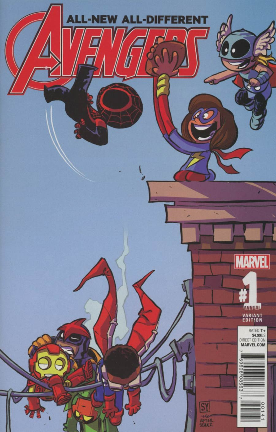 All-New All-Different Avengers Annual #1 Cover D Variant Skottie Young Baby Cover