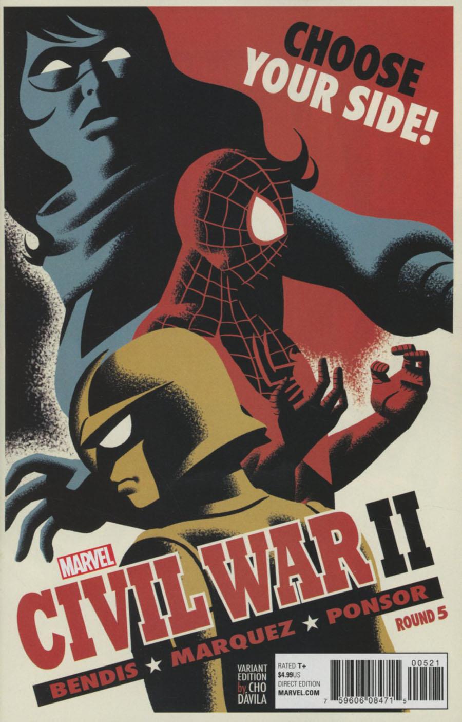 Civil War II #5 Cover B Variant Michael Cho Cover