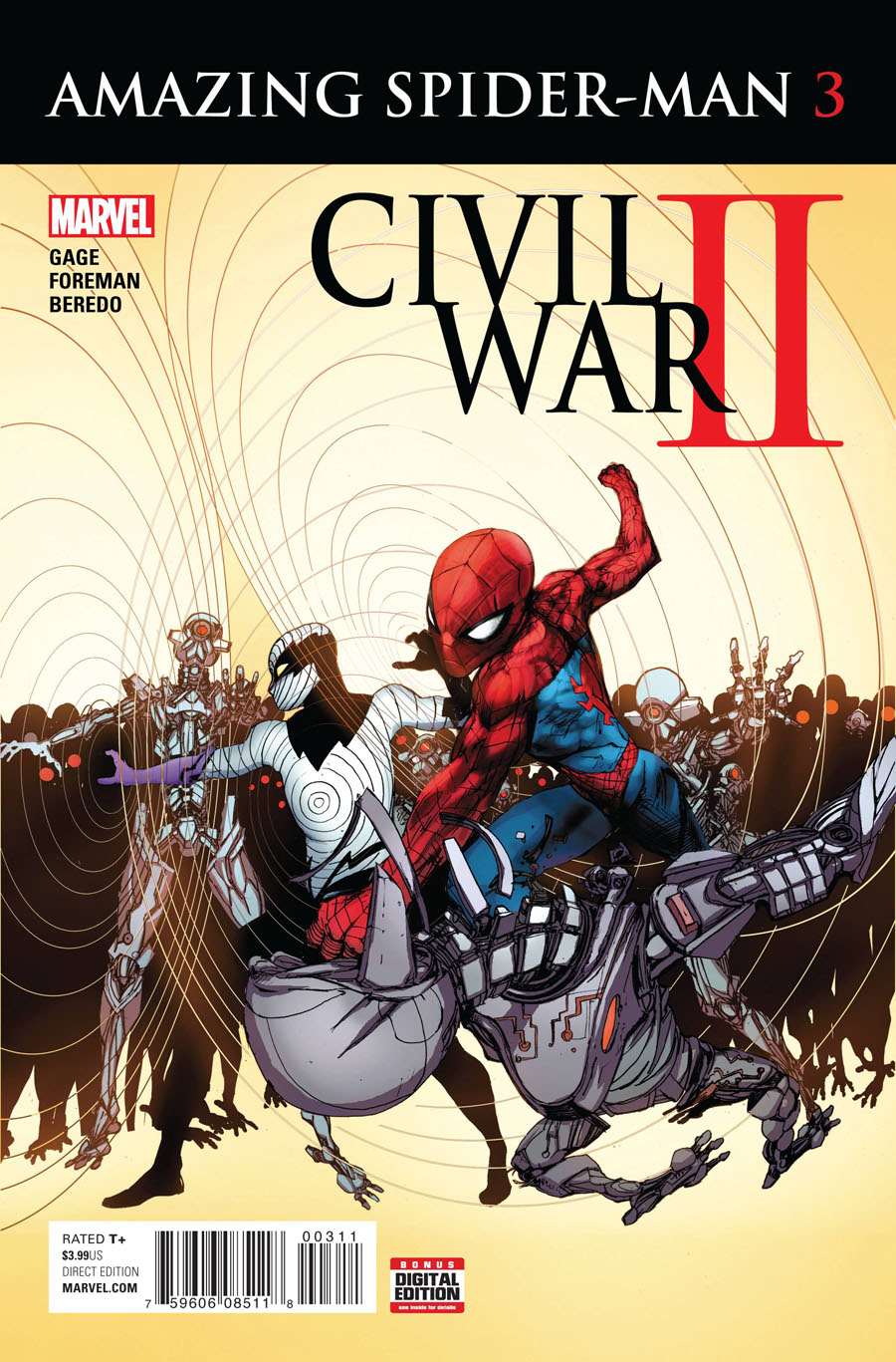Civil War II Amazing Spider-Man #3 Cover A Regular Travel Foreman Cover