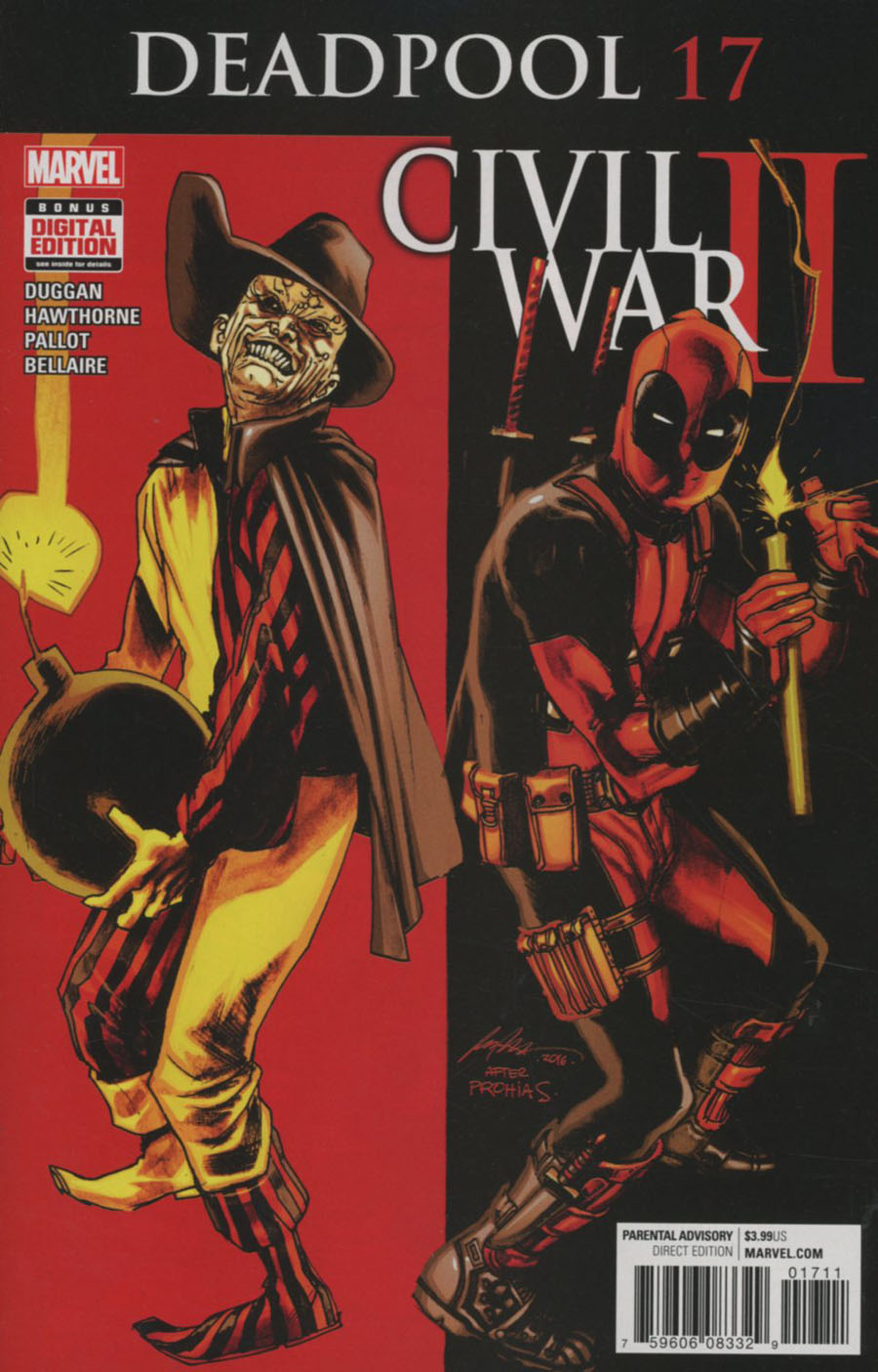 Deadpool Vol 5 #17 Cover A Regular Rafael Albuquerque Cover (Civil War II Tie-In)