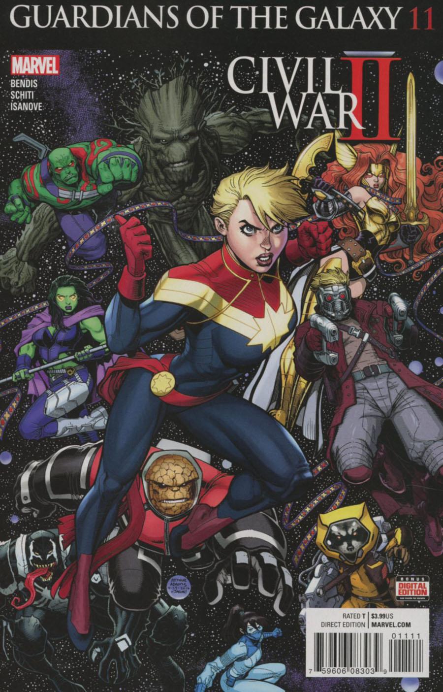 Guardians Of The Galaxy Vol 4 #11 Cover A Regular Arthur Adams Cover (Civil War II Tie-In)