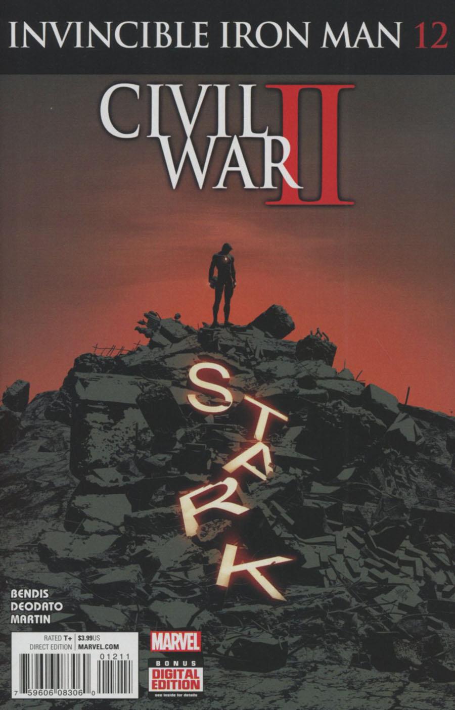 Invincible Iron Man Vol 2 #12 Cover A Regular Mike Deodato Jr Cover (Civil War II Tie-In)