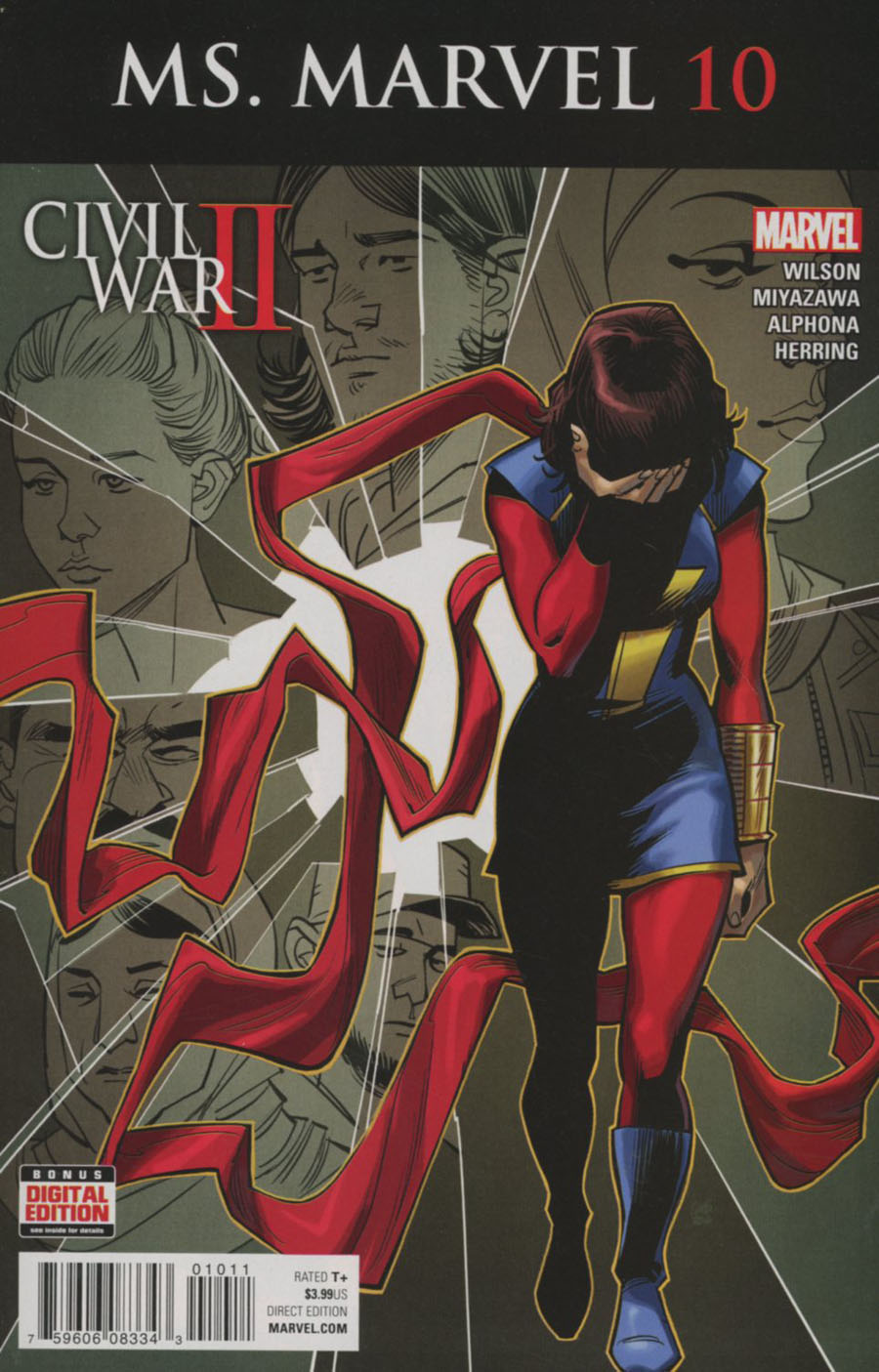 Ms Marvel Vol 4 #10 Cover A Regular Cameron Stewart Cover (Civil War II Tie-In)