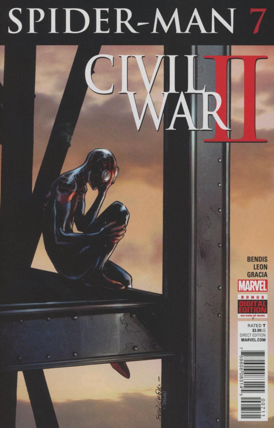 Spider-Man Vol 2 #7 Cover A Regular Sara Pichelli Cover (Civil War II Tie-In)