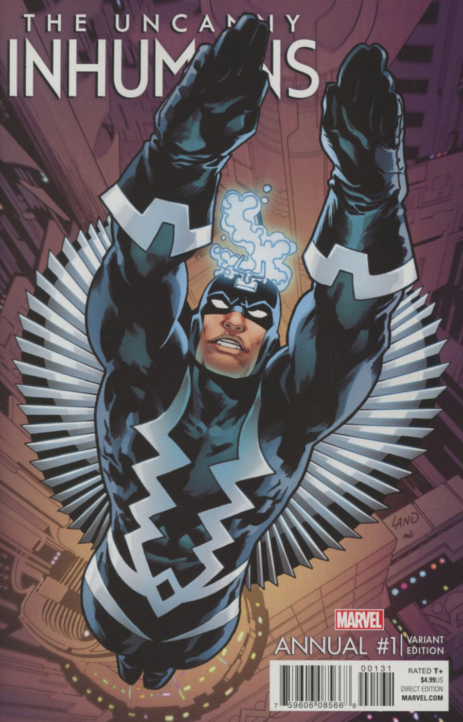 Uncanny Inhumans Annual #1 Cover C Variant Greg Land Cover
