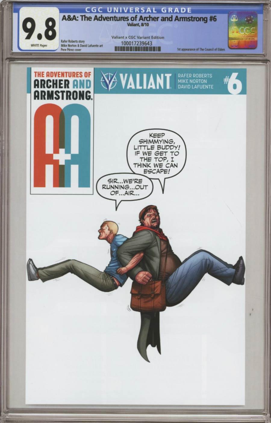 A&A #6 Cover D Variant Pere Perez Valiant x CGC Replica Cover