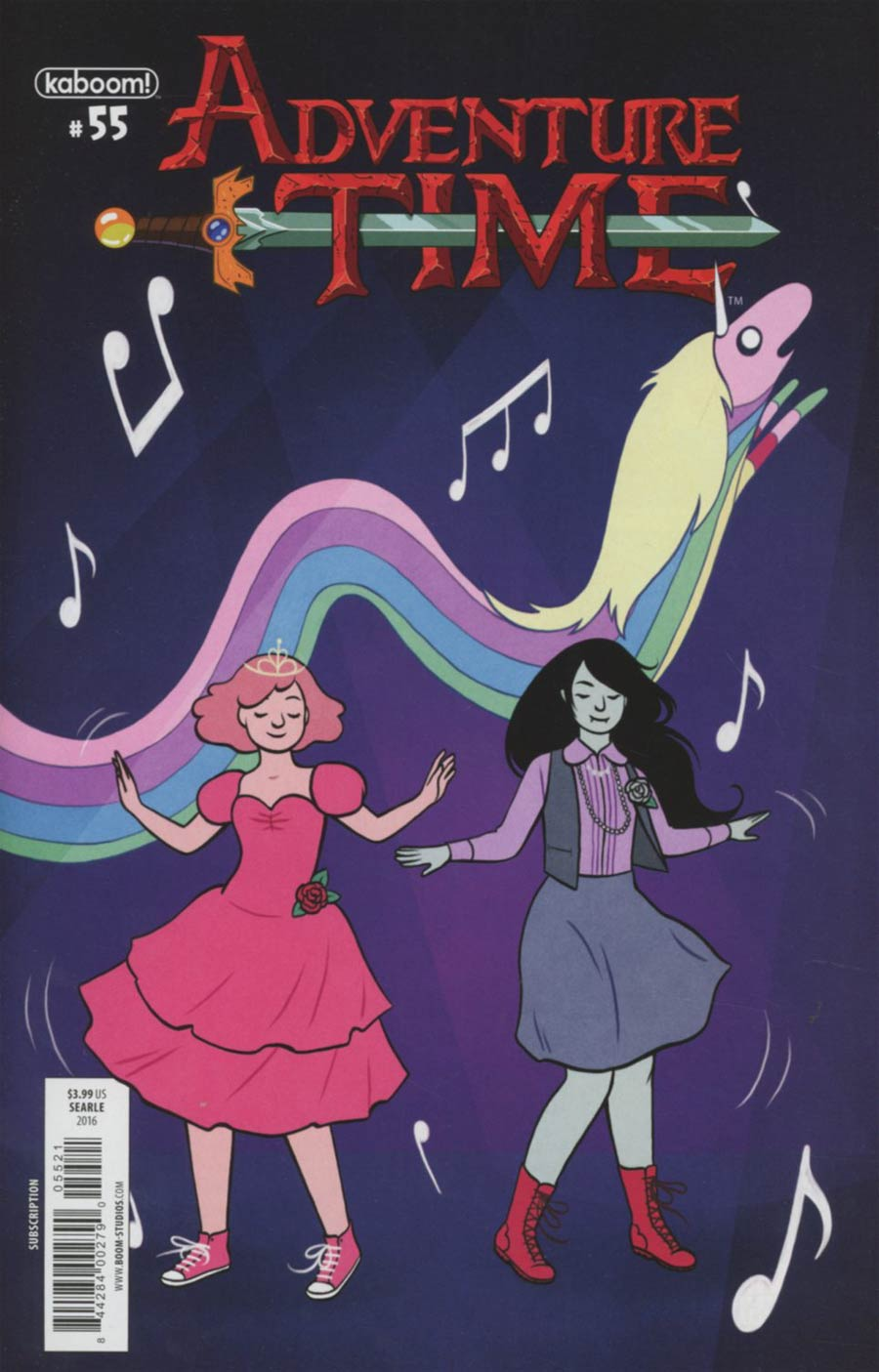 Adventure Time #55 Cover B Variant Sarah Searle Subscription Cover