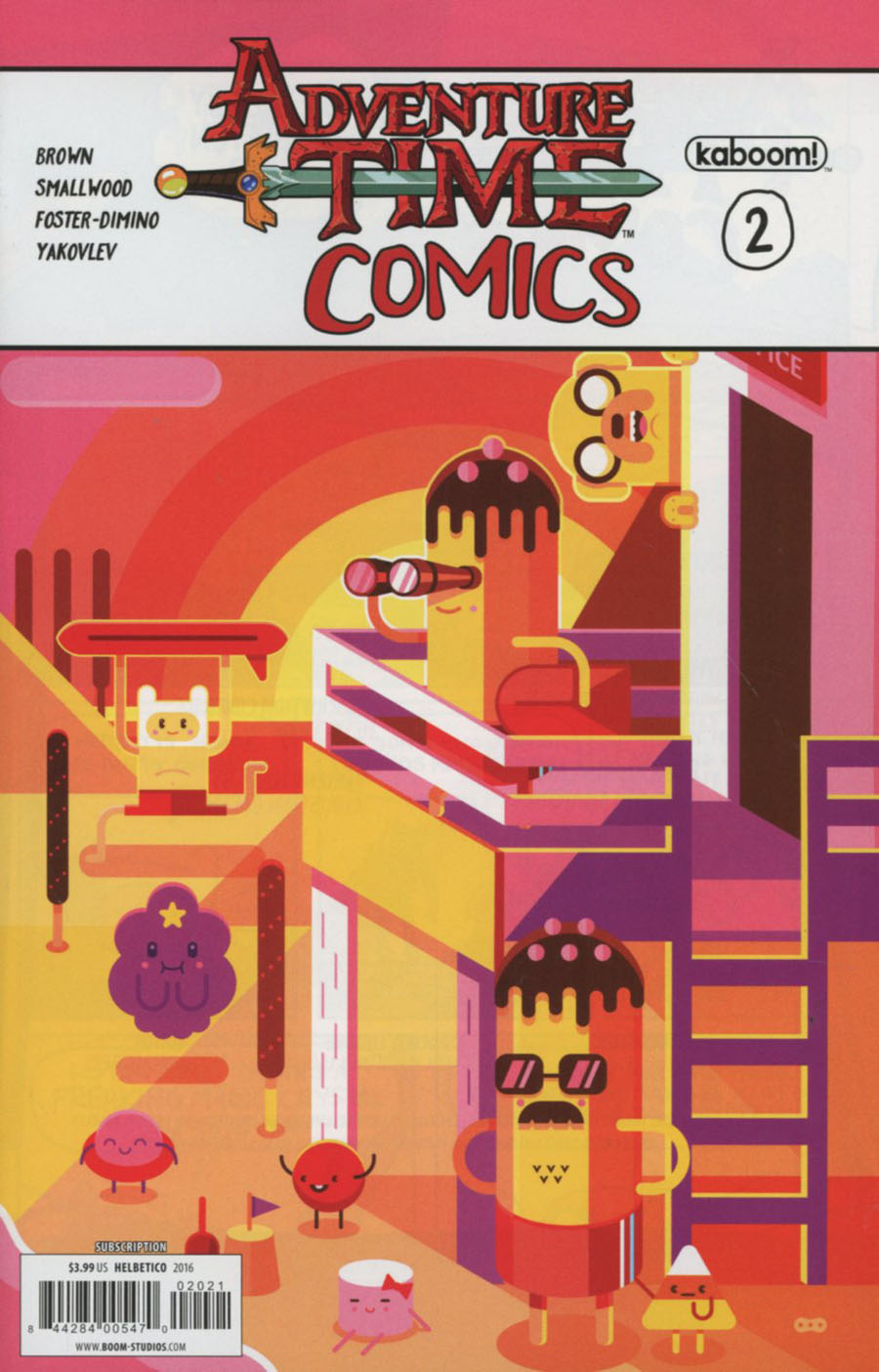 Adventure Time Comics #2 Cover B Variant Helbetico Subscription Cover