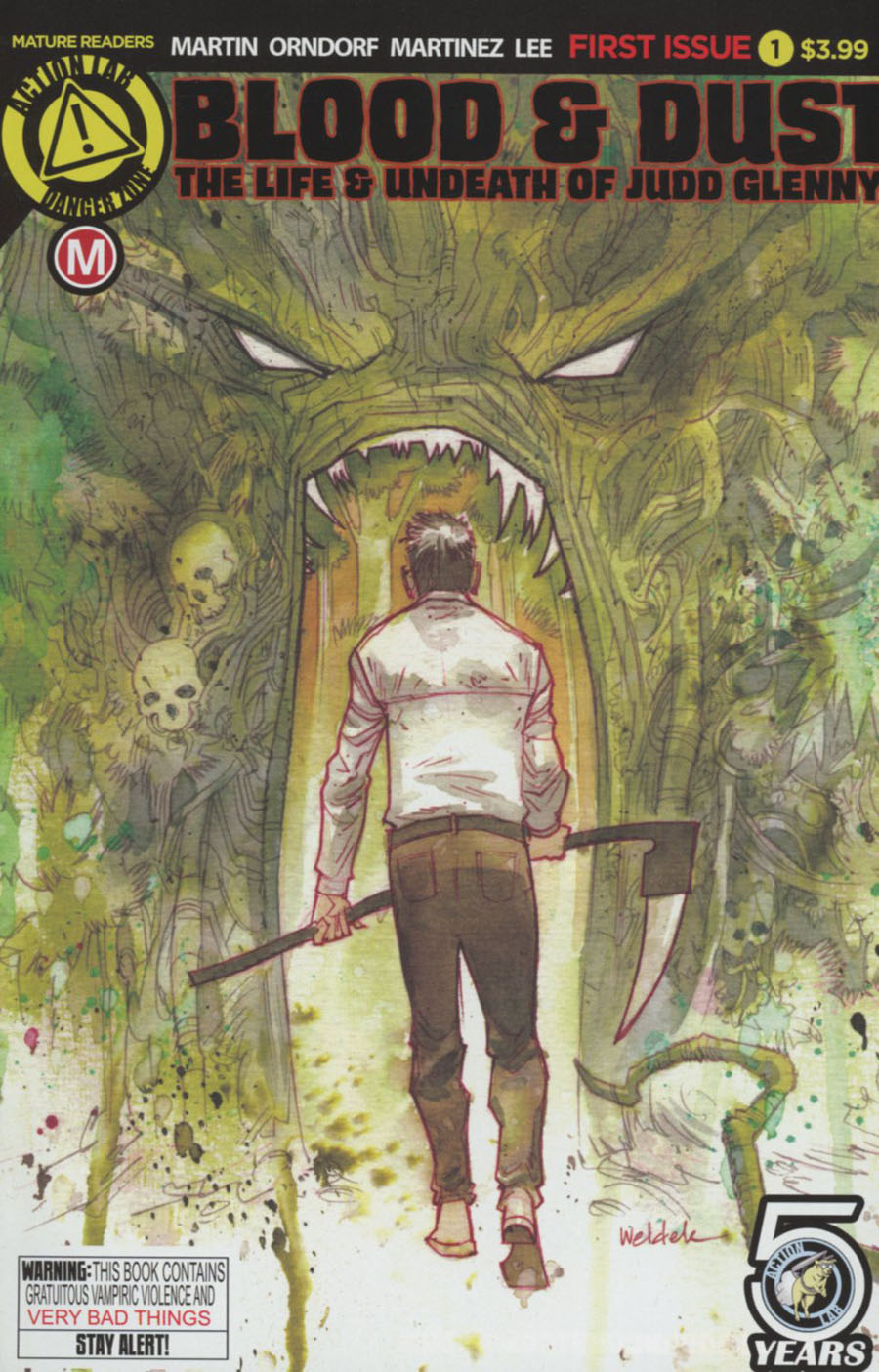 Blood & Dust Life & Undeath Of Judd Glenny #1 Cover A Regular Brett Weldele Cover