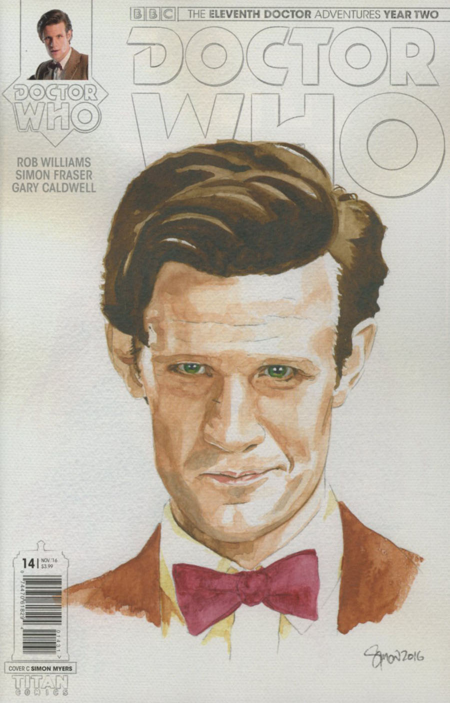 Doctor Who 11th Doctor Year Two #14 Cover C Variant Simon Myers Watercolor Cover