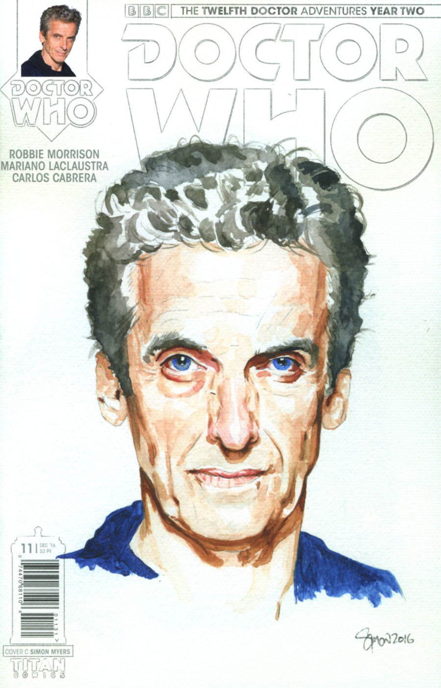Doctor Who 12th Doctor Year Two #11 Cover C Variant Simon Myers Watercolor Cover