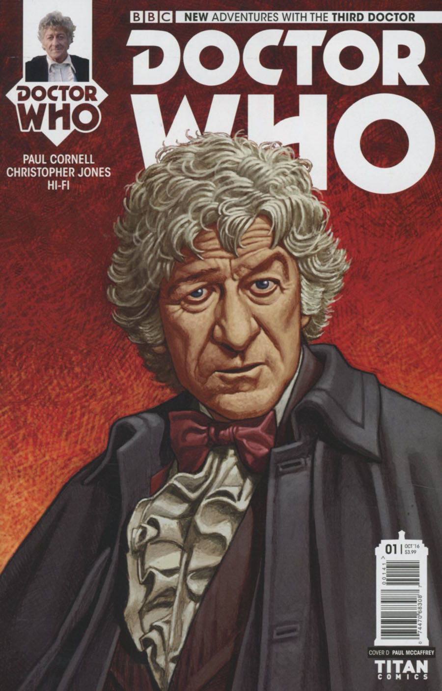 Doctor Who 3rd Doctor #1 Cover D Variant Paul McCaffrey Cover