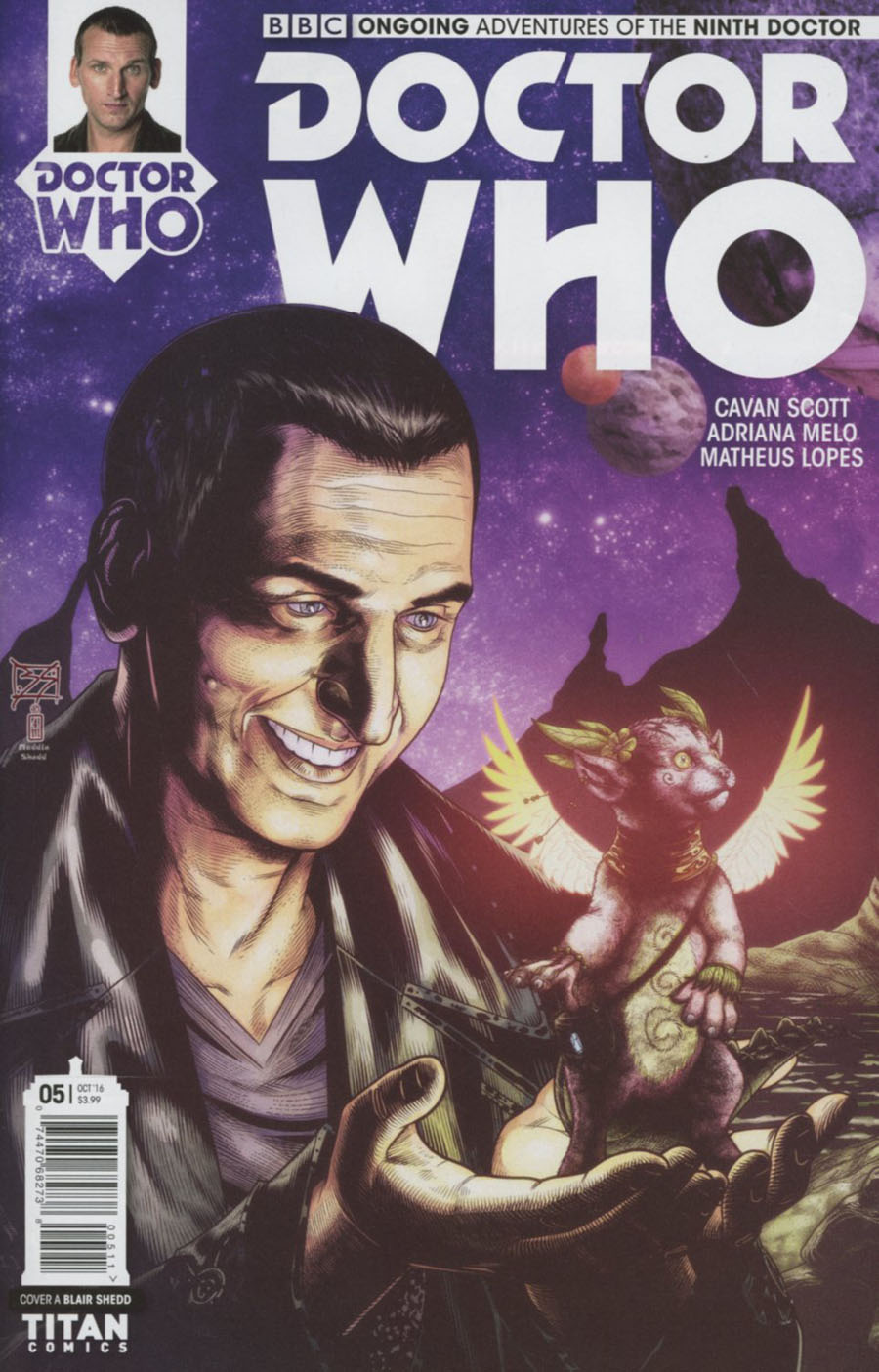 Doctor Who 9th Doctor Vol 2 #5 Cover A Regular Blair Shedd Cover