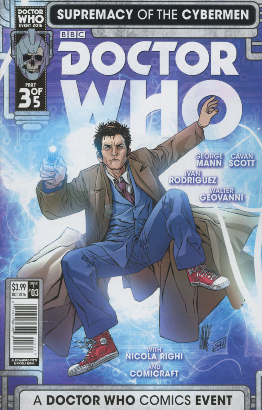 Doctor Who Event 2016 Supremacy Of The Cybermen #3 Cover A Regular Alessandro Vitti Cover